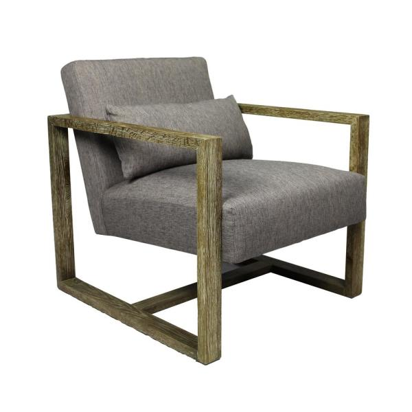 Nash Grey Arm Chair with Solid Oak Frame 88023017