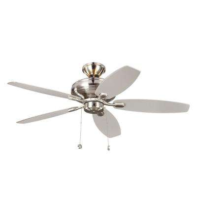 Centro Max Uplight 52 in. Indoor Brushed Steel Ceiling Fan