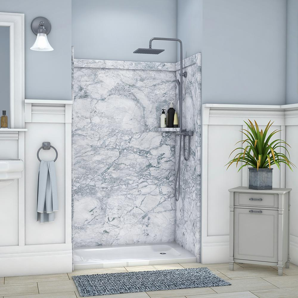 cultured marble shower walls home depot