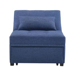 Surprising Powell Company Brooks Sofa Bed Blue Hd1155S19Bl The Home Depot Frankydiablos Diy Chair Ideas Frankydiabloscom