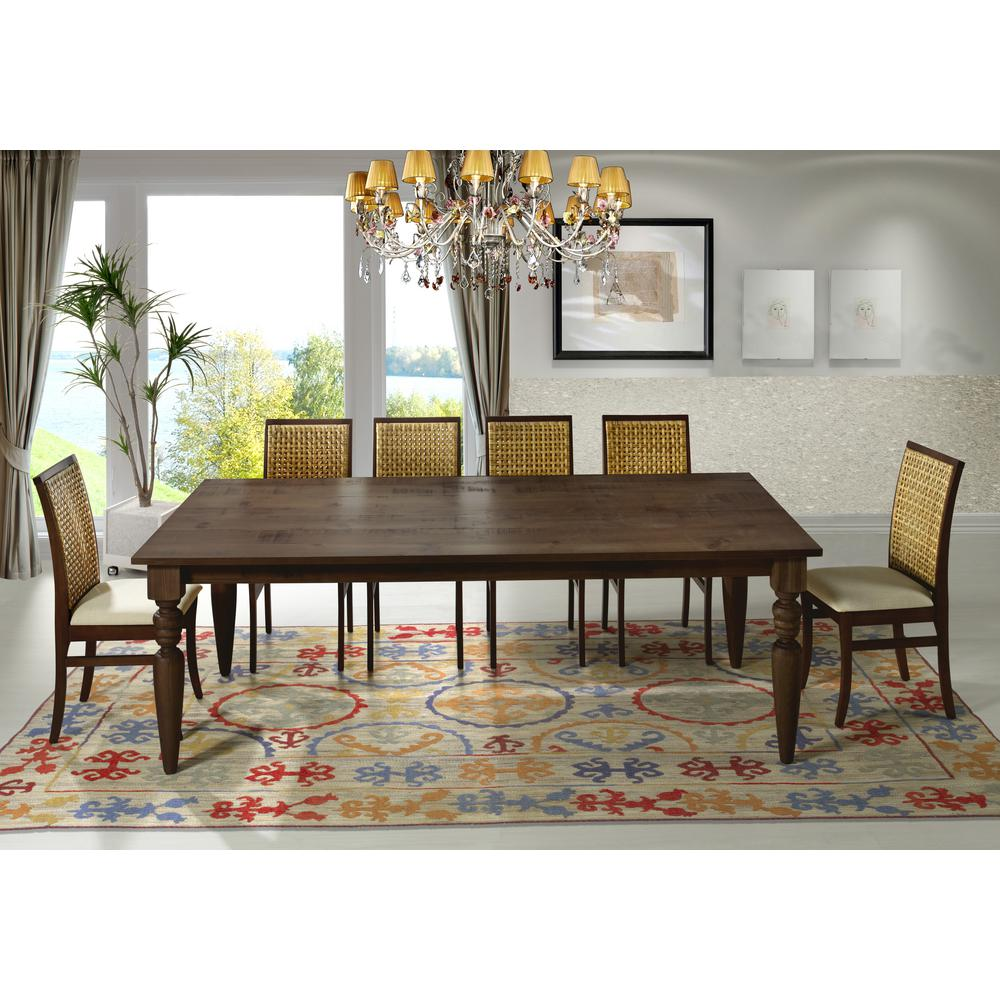ArtefamaFurniture Artefama Furniture Flora 94 in. Cinnamon Turning Legs Dining Table, Red