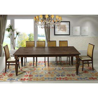 Flora 94 in. Cinnamon Turning Legs Dining Table