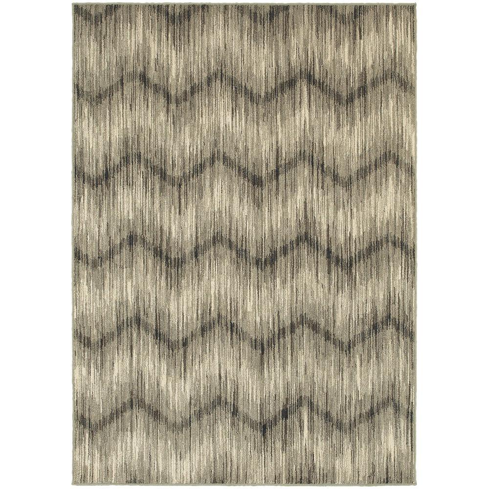 Monroe Beige/Charcoal 10 ft. x 13 ft. Area Rug