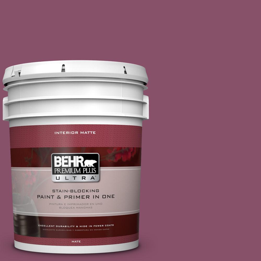 5 gal. #M120-7 Raspberry Crush Matte Interior Paint
