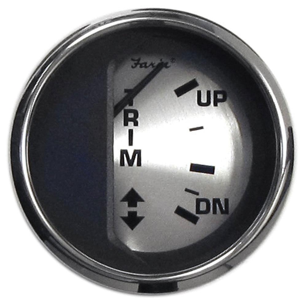 Faria Spun Silver Trim Gauge for Mercury/Mariner/Mercruiser/Volvo DP/Yamaha  (2001 and Newer)