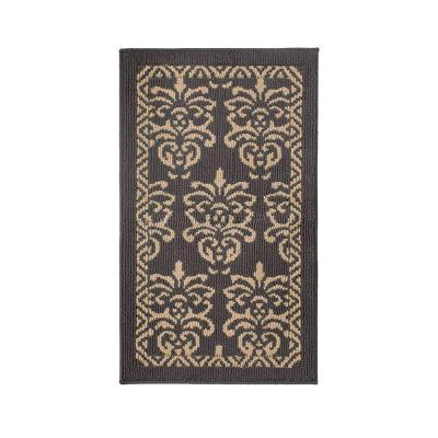 Bayonne Dark Grey/Linen 2 ft. x 3 ft. Loop Area Rug