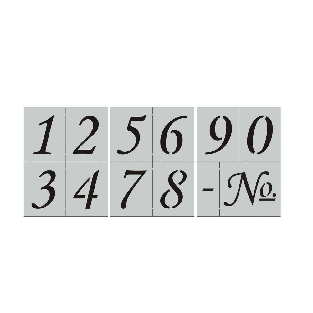 Corsiva Numbers Stencil Set