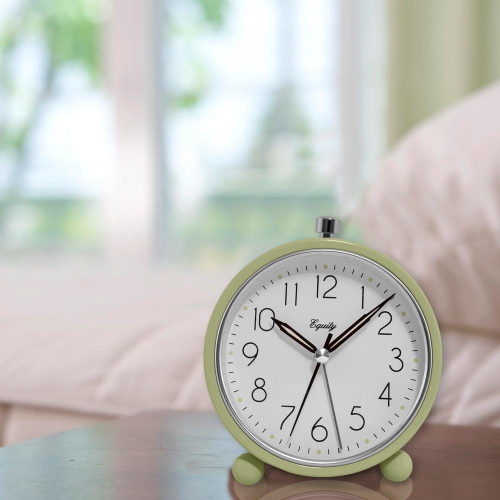 5 in. Round Quartz Metal Alarm Clock