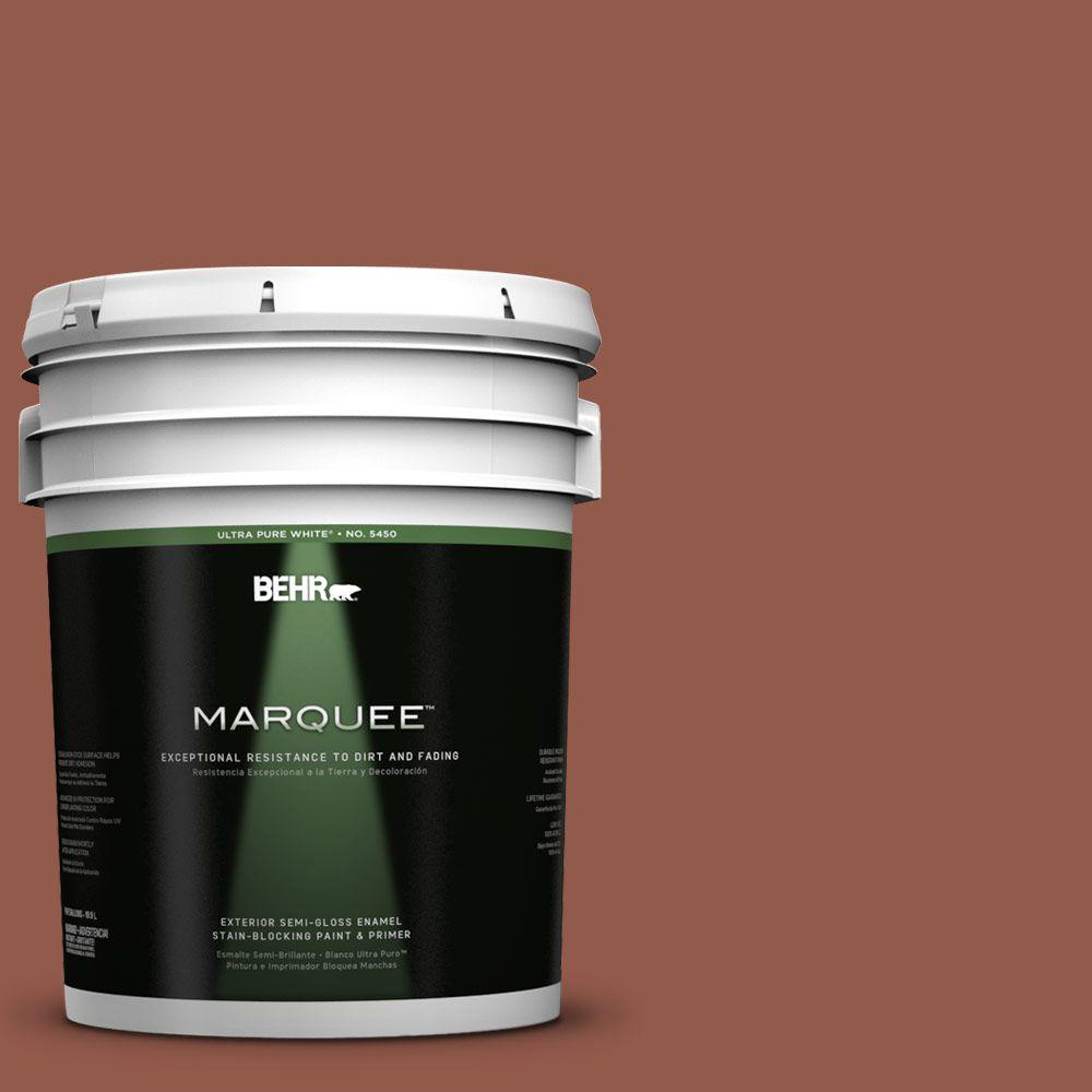 BEHR MARQUEE 5-gal. #200F-6 Sequoia Grove Semi-Gloss Enamel Exterior Paint