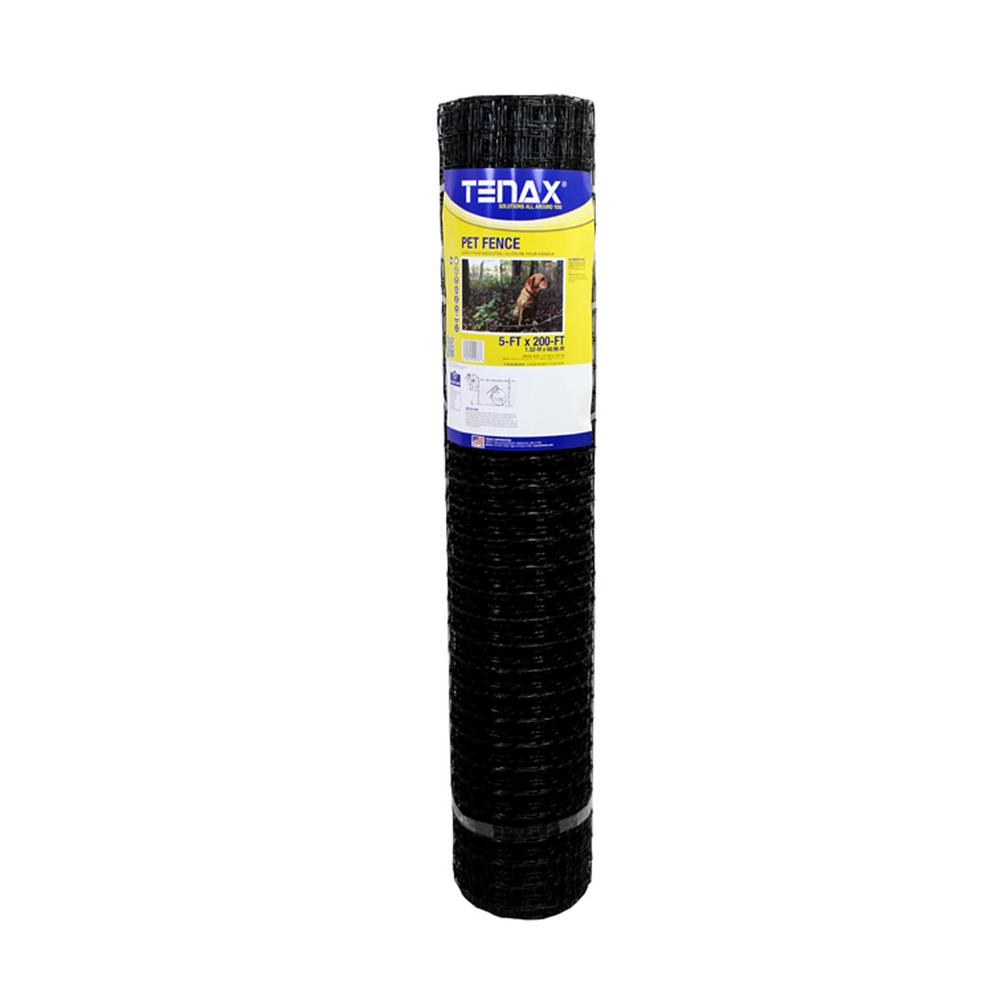 TENAX 5 ft. x 200 ft. C Flex P Pet Fence, Black