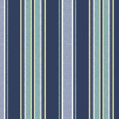 Sapphire Aurora Stripe Outdoor Fabric by The Yard