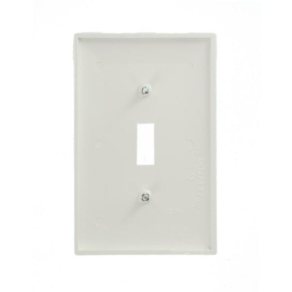 Leviton 1 Gang Midway Toggle Nylon Wall Plate White R52 00pj1 00w The Home Depot