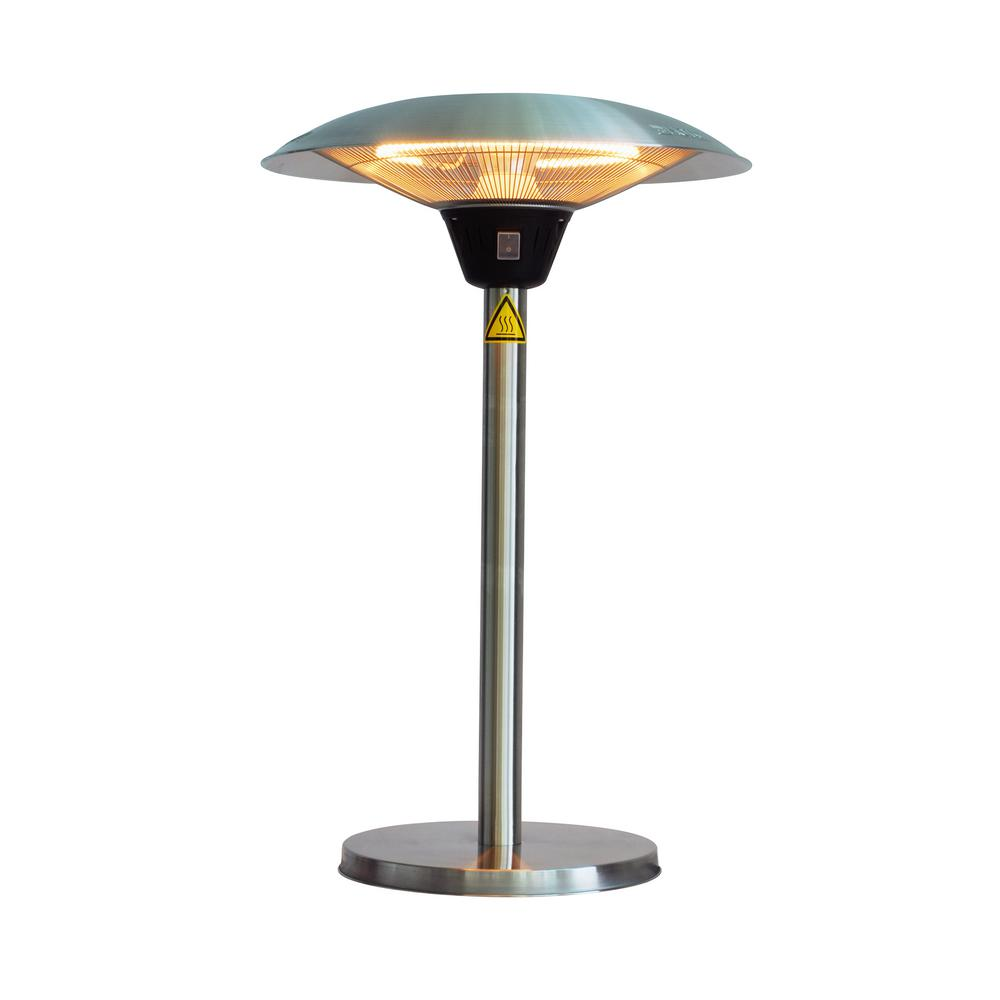 Fire Sense Cimarron 1 500 Watt Stainless Steel Table Top Halogen Patio Heater