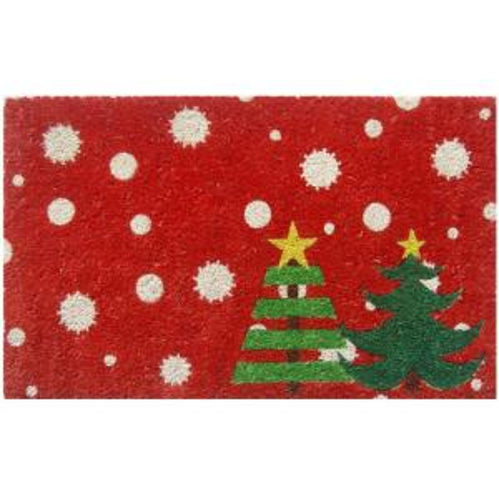 Entryways Christmas Trees 17 In X 28 In Non Slip Coir