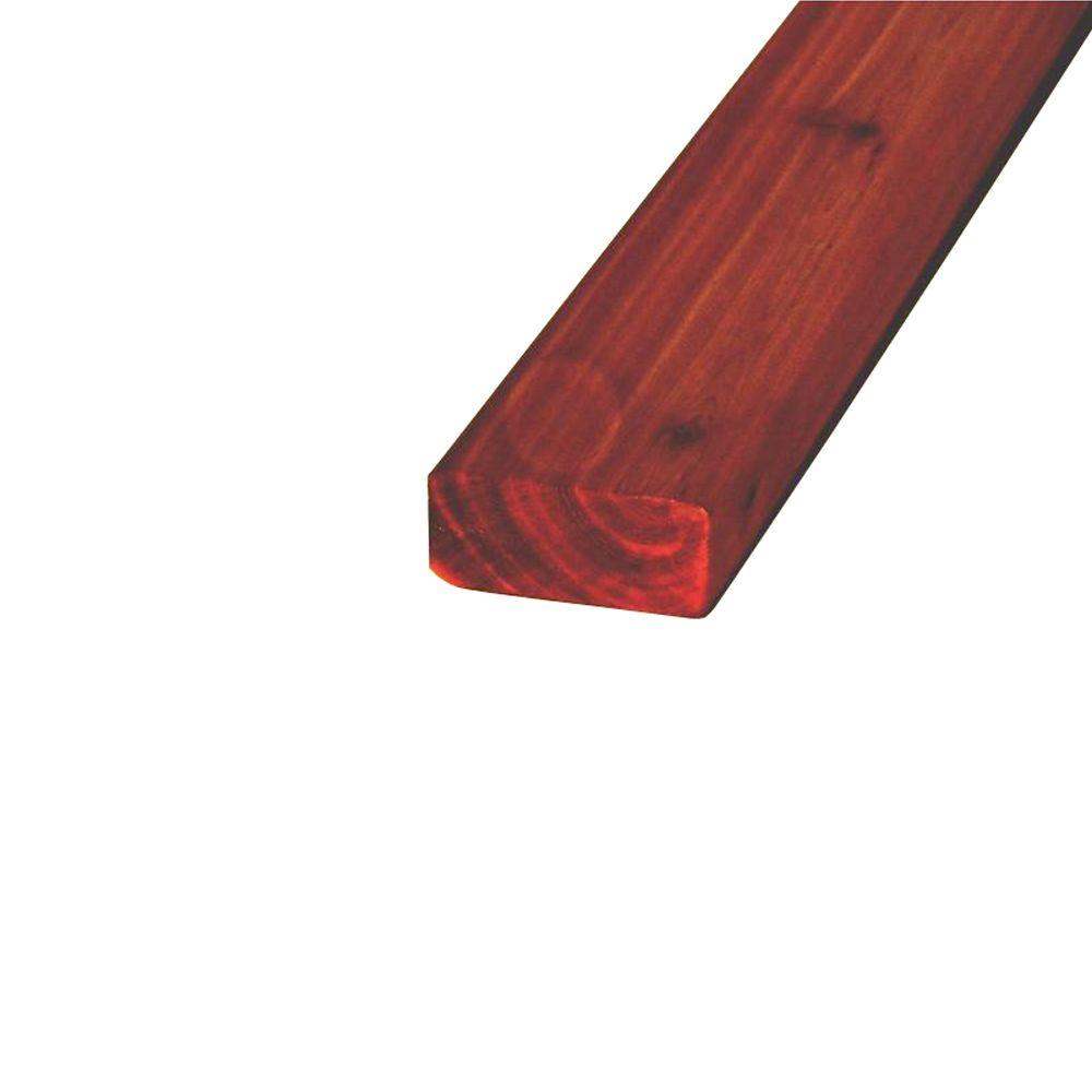 96 in. x 4 in. x 33/100 ft. WRC Pre-Stained Smooth