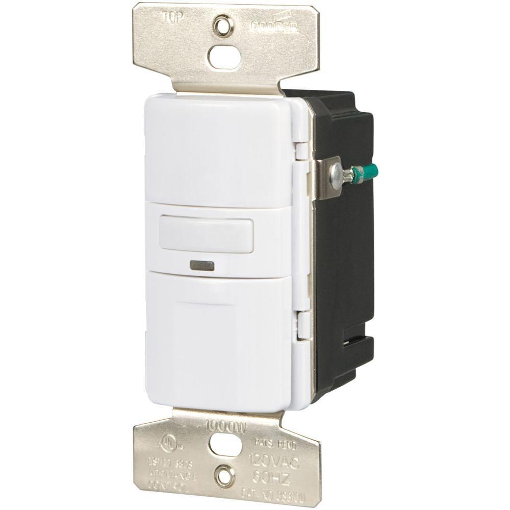 Eaton 1000-Watt 120-Volt Occupancy/Vacancy Sensor Switch, White