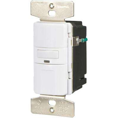 1000-Watt 120-Volt Occupancy/Vacancy Sensor Switch, White