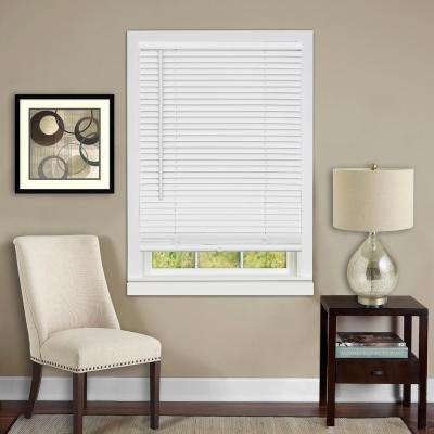 31 in . W x 64 in. L White 1 in. Vinyl Blind