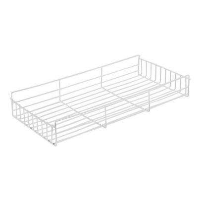 4.13 in. x 12 in. x 21.5 in. Side Mount Pantry Roll Out Basket Pantry Organizer