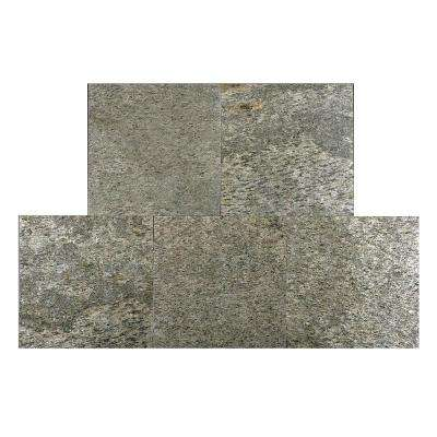 Silver Shine 12 in. x 12 in. Slate Peel and Stick Wall Tile (5 sq. ft. / pack)