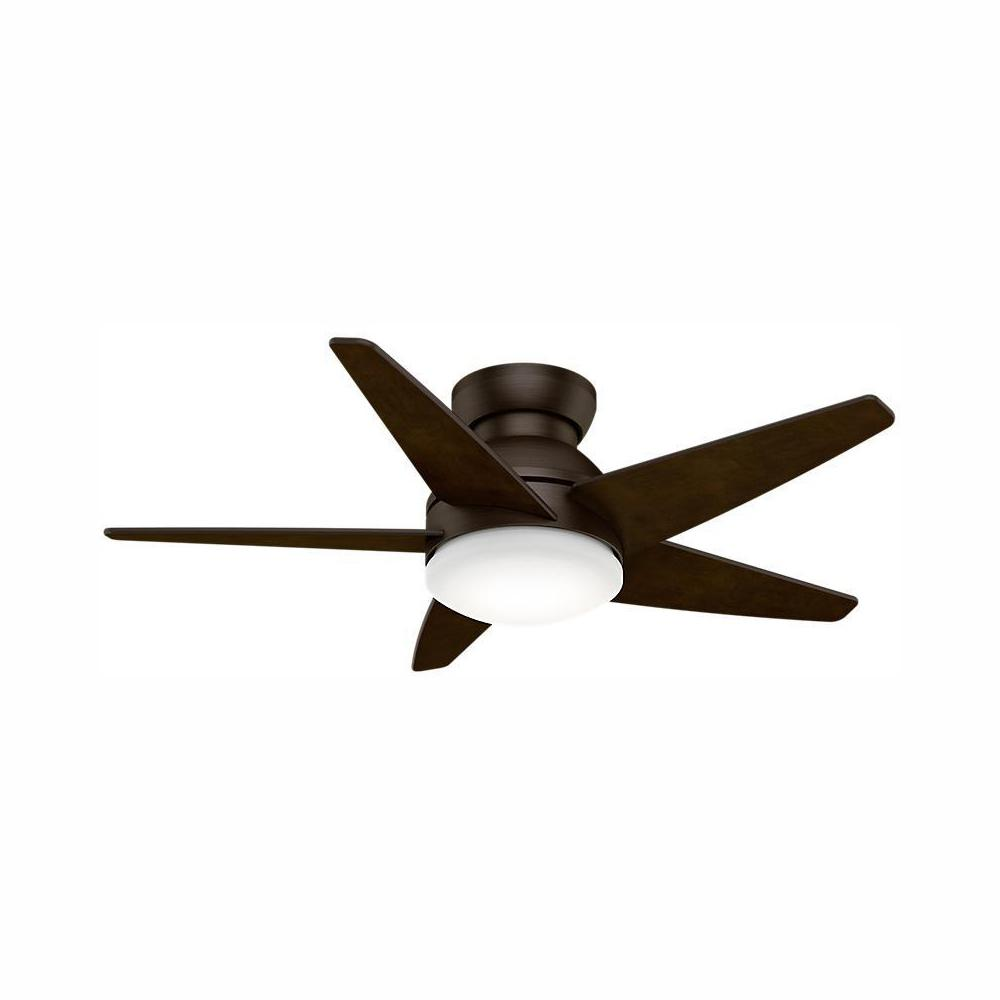Casablanca Isotope 44 in. Indoor Brushed Cocoa Ceiling Fan with Light and Wall Control