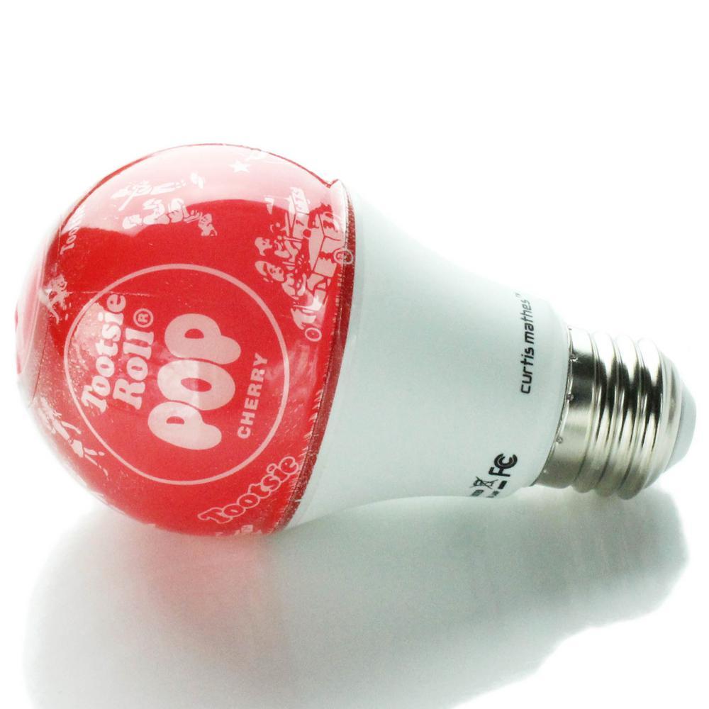40-Watt Equivalent Soft White A19 LED Tootsie Pop Cherry Light Bulb