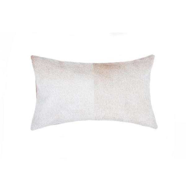 natural Torino Natural 12 in. x 20 in. Cowhide Pillow