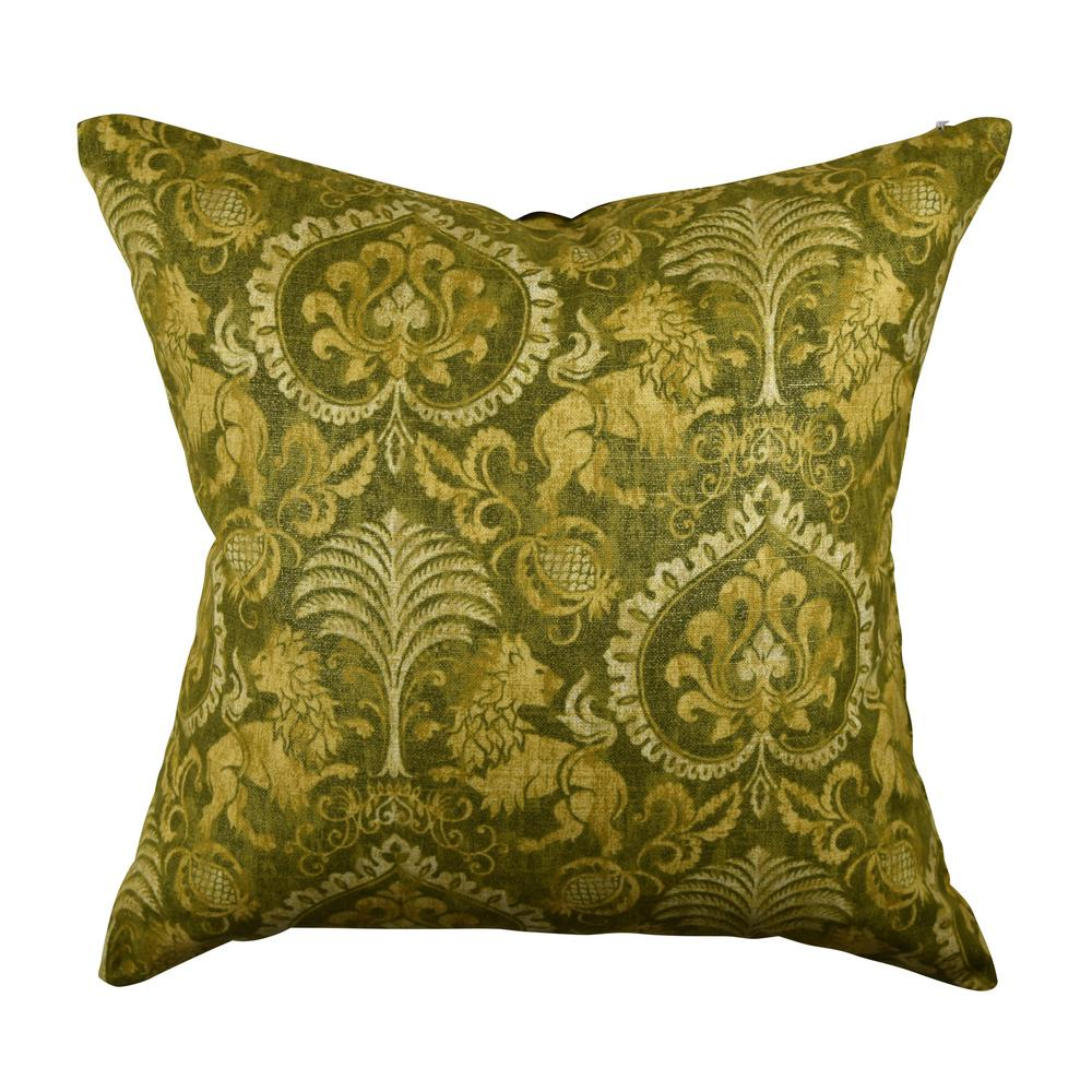 Vesper Lane Gray Fleur De Lis Designer Throw Pillow