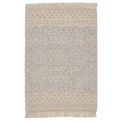 Winchester Beige/Blue 8 ft. x 10 ft. Wool Area Rug