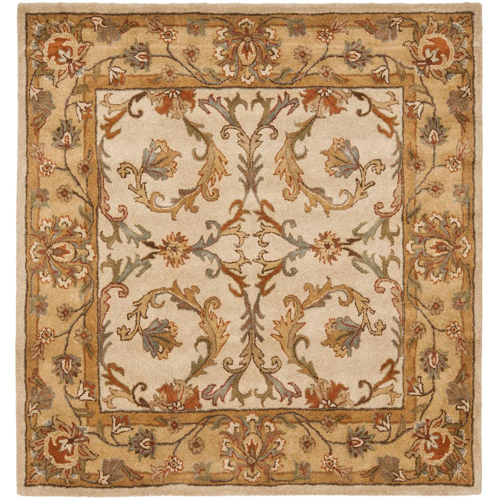 Heritage Beige/Gold 6 ft. x 6 ft. Square Area Rug