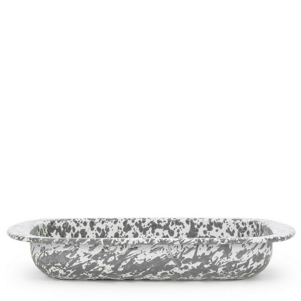 Grey Swirl 4.5 qt. Enamelware Baking Pan