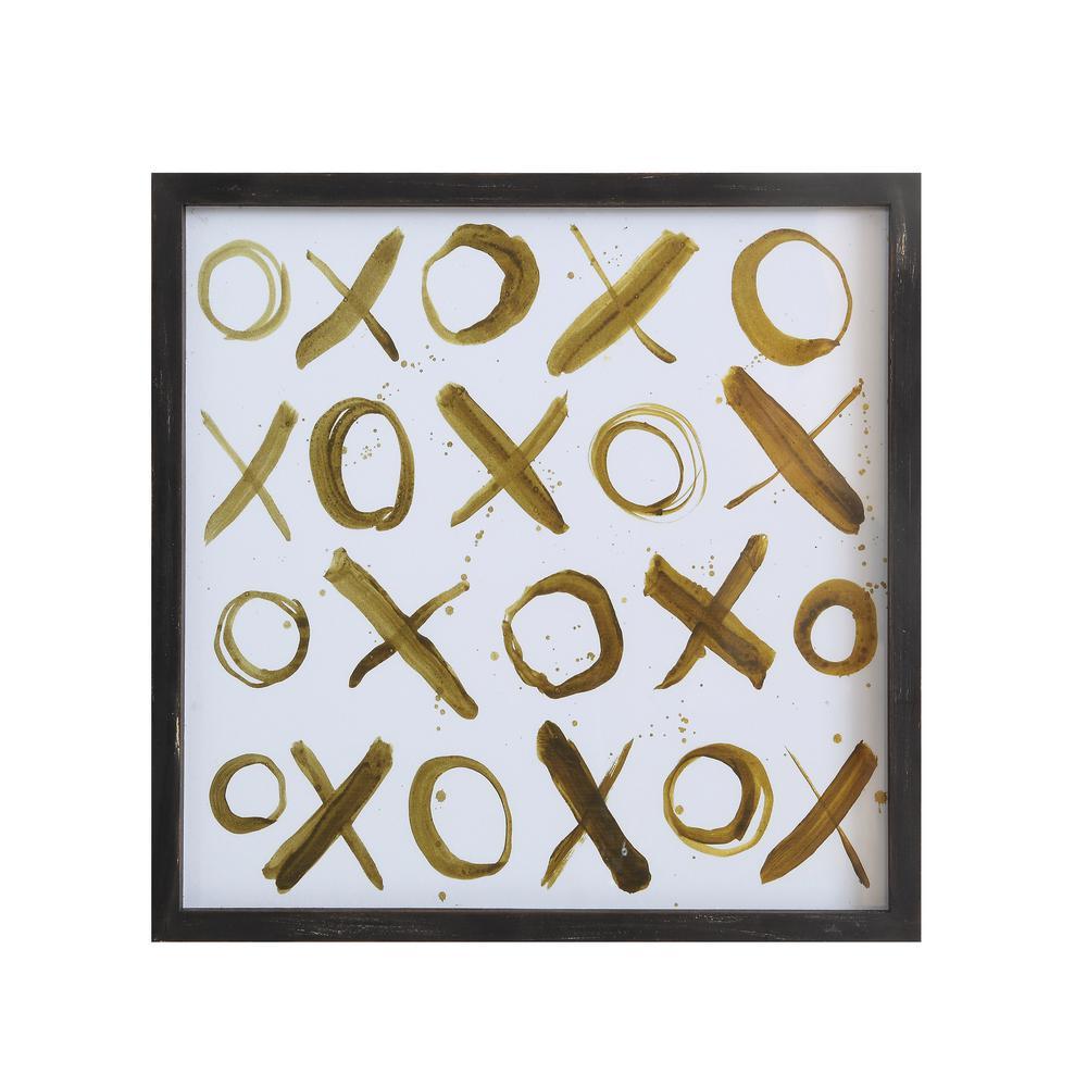 "24 in. x 24 in. Print with ""X""s and ""O""s Framed Wall Art"