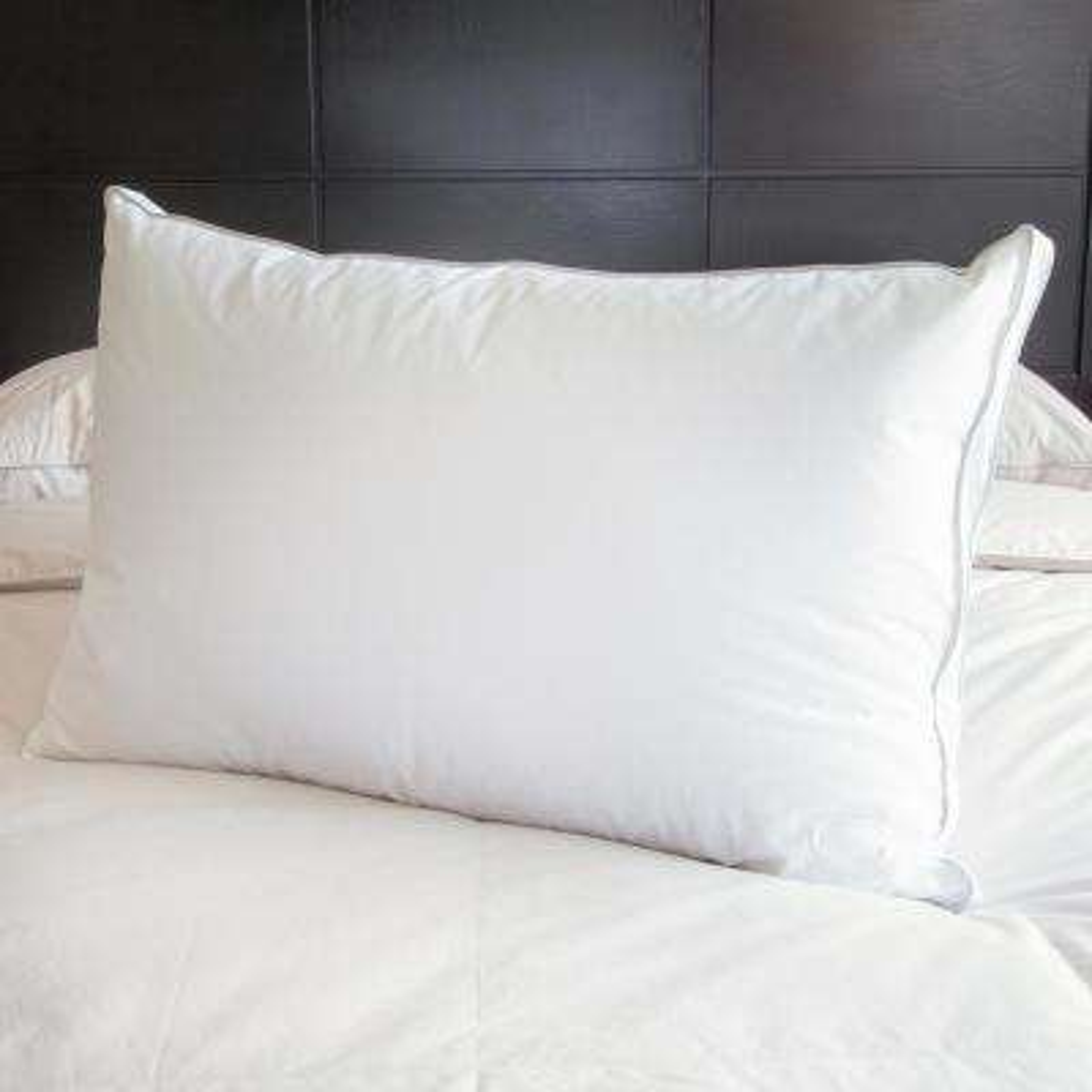 Queen White Goose Down Pillow