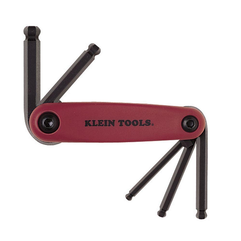 Grip It 174 Five Key Ball Hex Set Metric 70572 Klein