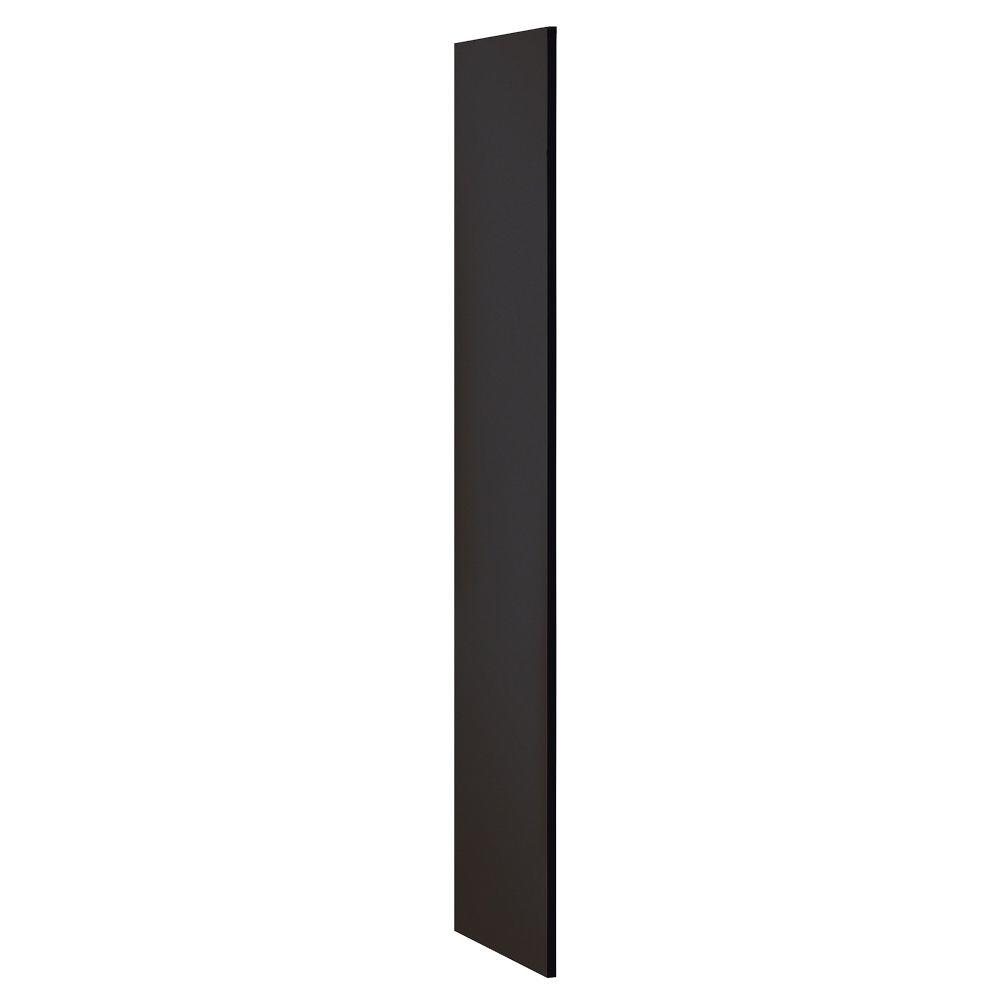 Salsbury Industries Designer Wood Side Panel without Sloping Hood for 18 in. Deep Designer Wood Locker in Black
