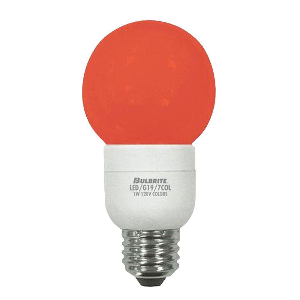 Bulbrite 1W Equivalent (2700K) G18 LED Light Bulb (5-Pack)
