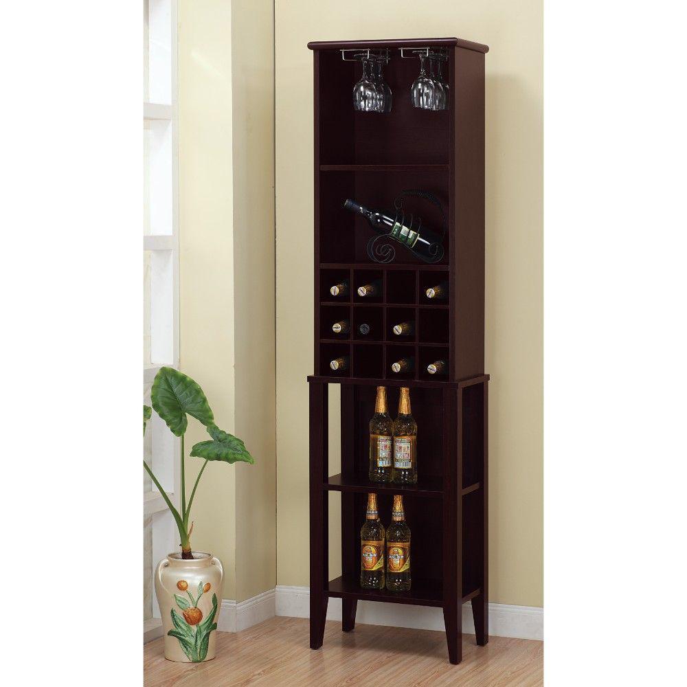 Well Designed Elegant Brown Wine Bar with Wine Racks