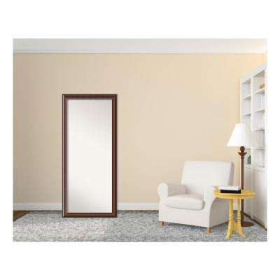 Cyprus Walnut Wood 29 in. W x 65 in. H Traditional Floor/Leaner Mirror