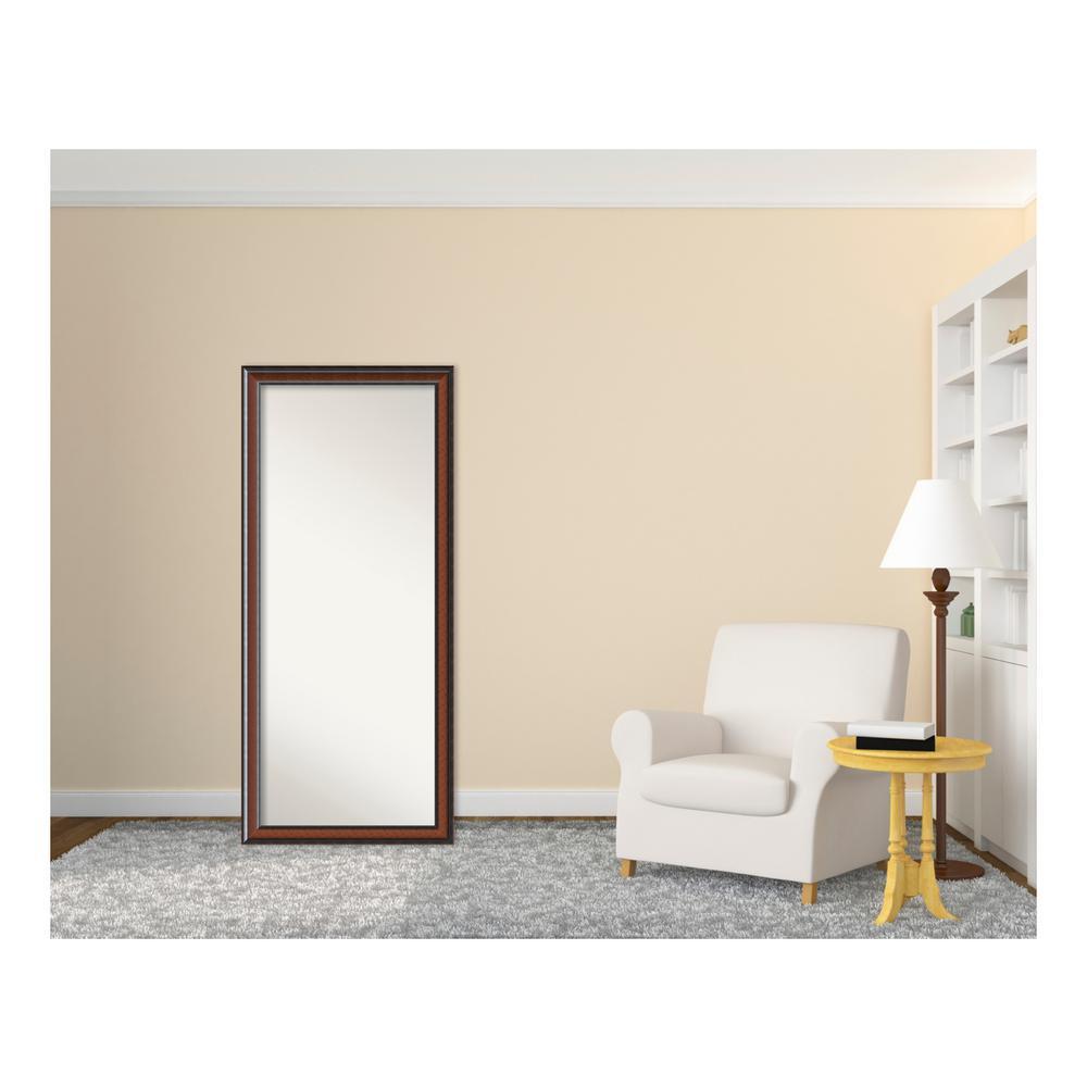 Cyprus Walnut Wood 29 in. W x 65 in. H Traditional Floor/Leaner Mirror