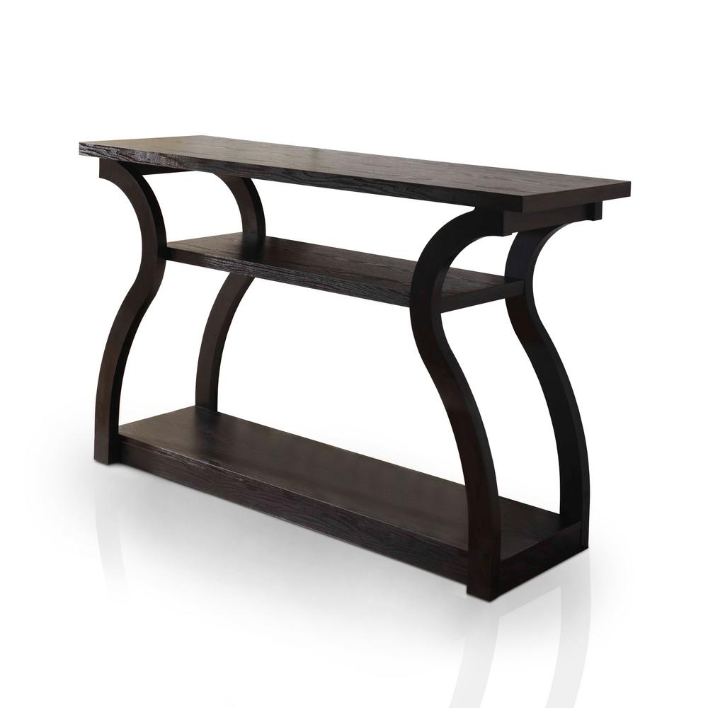 Furniture Of America Adrianna Black Console Table Ynj 241 1 The Home Depot
