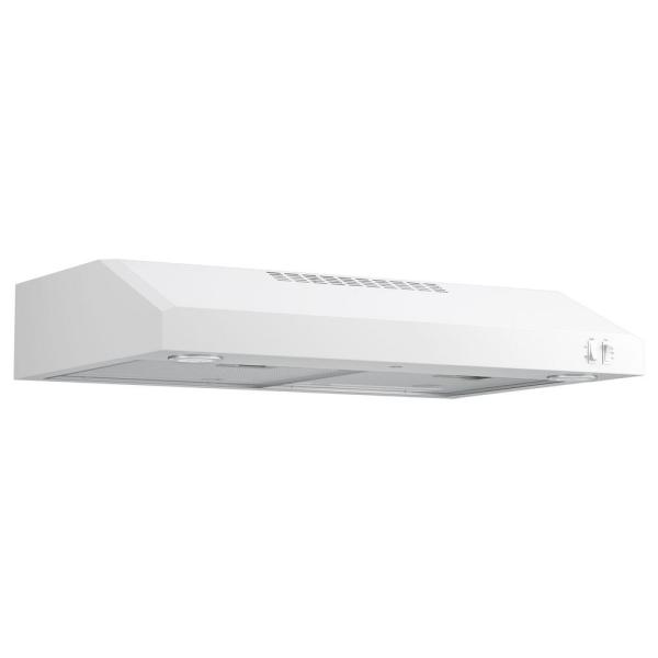 30 in. Under the Cabinet Range Convertible Range Hood in White, ENERGY STAR