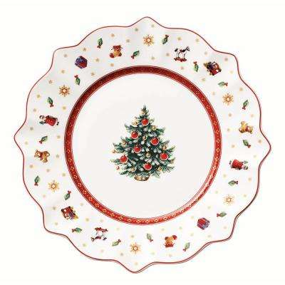 Toy's Delight 9.5 in. White Salad Plate