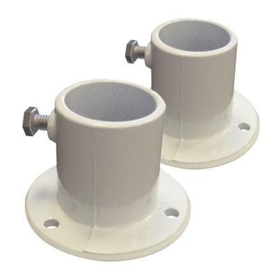 Aluminum Deck Flanges for Above Ground Pool Ladder (2-Piece)