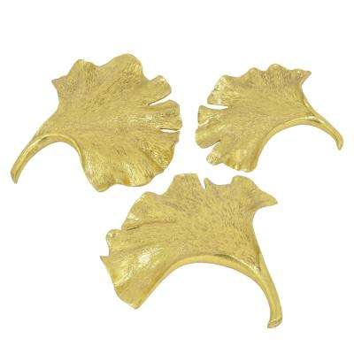 1 in. Set Of Three Leaf Wall Decorations