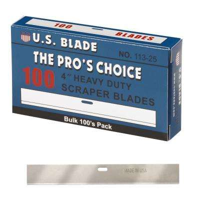 4 in. Scraper Blades (100-Pack)