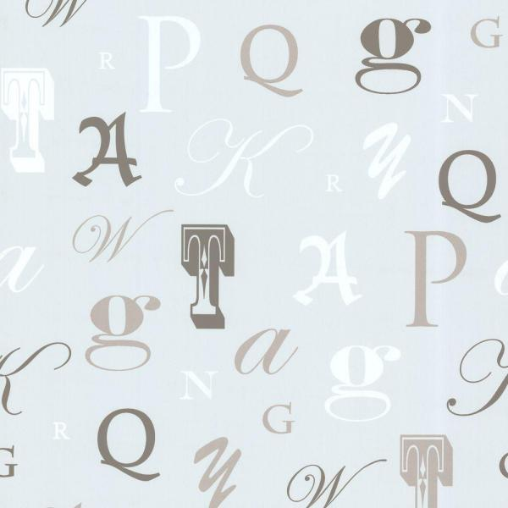 Beacon House Manuscript Light Blue Letter Font Wallpaper 450-67335