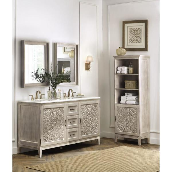 Home Decorators Collection Chennai 61 In W Double Vanity In White
