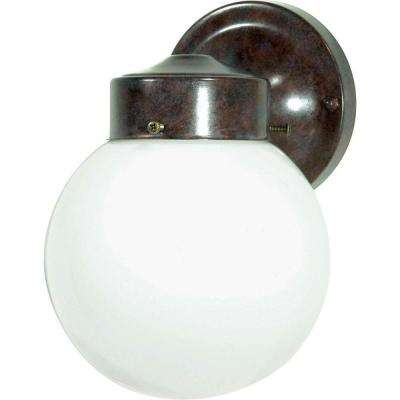 Tony 1-Light Old Bronze Outdoor Wall Mount Sconce