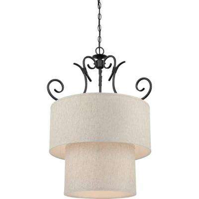 Lenor 9-Light Ceiling Antique Iron Fluorescent Chandelier