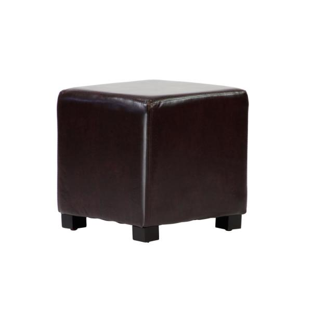 Faux Leather Ottoman Cube Dwc 160ch